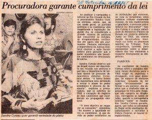Eleitoral- Eleiçoes Gerais 1986. O Estado, 30-9-1986