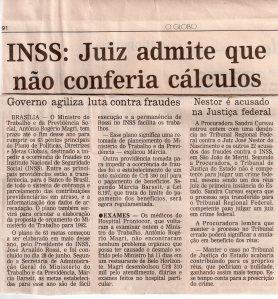 Patrimônio Público - Precatórios contra o INSS. O Globo, 17-7-1991