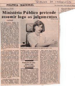Patrimônio Público - Precatórios Contra o INSS. Tribuna da Imprensa, 19-7- 1991