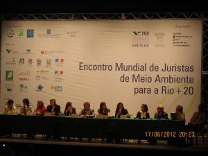 Rio + 20, no Rio de Janeiro, no Encontro Mundial de Juristas